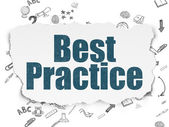 Education concept: Best Practice on Torn Paper background — Stock Photo