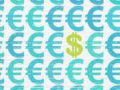 Currency concept: dollar icon on wall background — Stock Photo
