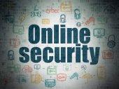Safety concept: Online Security on Digital Paper background — Stock fotografie