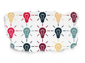 Business concept: Light Bulb icons on Torn Paper background — Stock Photo