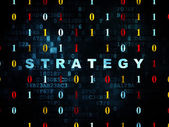 Business concept: Strategy on Digital background — Stock Photo