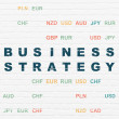 Business concept: Business Strategy on wall background — Stock Photo #72122279