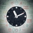 Time concept: Clock on Digital Paper background — Stock Photo #72122475