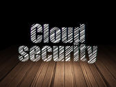 Protection concept: Cloud Security in grunge dark room — Stock Photo