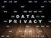 Concetto di sicurezza: riservatezza dei dati in camera oscura di grunge — Foto Stock