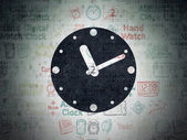 Time concept: Clock on Digital Paper background — Stock Photo