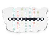 広告の概念: 単語のクロスワード パズルを解くのマーケティング — ストック写真