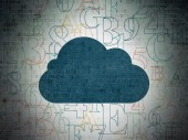 Cloud networking concept: Cloud on Digital Paper background — Stock Photo