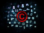 Law concept: Copyright on Digital background — Stock Photo