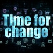 Time concept: Time for Change on Digital background — Stock Photo #73849443