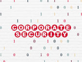 Safety concept: Corporate Security on wall background — Stock fotografie