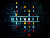 Protection concept: word Malware in solving Crossword Puzzle — Stock Photo