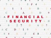 Sicherheitskonzept: finanzielle Sicherheit auf Wand-Hintergrund — Stockfoto