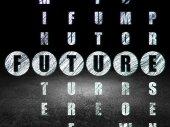 Tijd concept: toekomst woord bij het oplossen van kruiswoordraadsel — Stockfoto