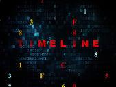 Timeline concept: Timeline on Digital background — Stockfoto