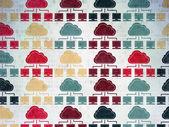 Cloud computing concetto: Cloud Network icons su fondo di carta digitale — Foto Stock