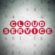 Cloud networking concept: Cloud Service on Digital Paper background — Stock Photo #74203219