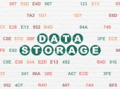 Data concept: Data Storage on wall background — Stock Photo
