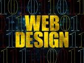 Conceito de Web design: Web Design sobre fundo Digital — Fotografia Stock