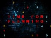 Conceito de tempo: tempo de planejamento no contexto digital — Fotografia Stock