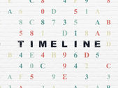 Timeline concept: Timeline on wall background — Stock Photo