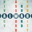 Privacy concept: word Malware in solving Crossword Puzzle — Stock Photo #74528167
