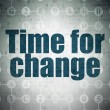 Time concept: Time for Change on Digital Paper background — Stock Photo #74528783