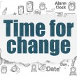 Time concept: Time for Change on Torn Paper background — Stock Photo #74528815