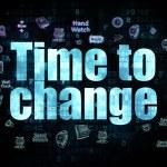 Koncepcja osi czasu: czas na zmiany na tle cyfrowy — Zdjęcie stockowe #74528837