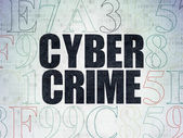 Security concept: Cyber Crime on Digital Paper background — Stock Photo