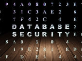 Safety concept: Database Security in grunge dark room — Stock Photo