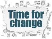 Time concept: Time for Change on Torn Paper background — Stock Photo
