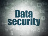 Protection concept: Data Security on Digital Paper background — Stock Photo