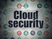 Privacy concept: Cloud Security on Digital Paper background — Stock Photo