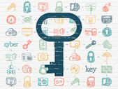 Privacy concept: Key on wall background — Stock Photo