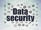 Bescherming concept: gegevensbeveiliging op digitale papier achtergrond — Stockfoto