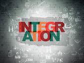 Finance concept: Integration on Digital Paper background — Stock Photo