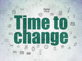 Time concept: Time to Change on Digital Paper background — Stock Photo