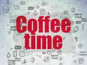 Time concept: Coffee Time on Digital Paper background — Stock Photo