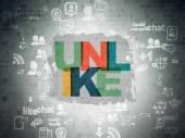 Social media concept: Unlike on Digital Paper background — Stock Photo