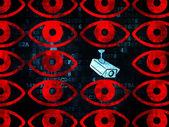 Security concept: cctv camera icon on Digital background — Stockfoto