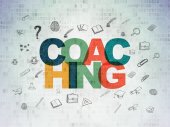 Learning concept: Coaching on Digital Paper background — Stock Photo
