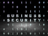 Safety concept: Business Security in grunge dark room — Stock Photo