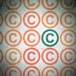 Law concept: copyright icon on Digital Paper background — Stock Photo #79398614