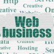 Web design concept: Web Business on wall background — Stock Photo #79398832
