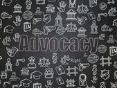 Law concept: Advocacy on School Board background — Stock Photo