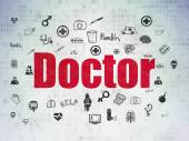 Medicine concept: Doctor on Digital Paper background — Stock Photo