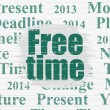 Time concept: Free Time on wall background — Stock Photo #79405136