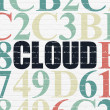 Cloud computing concept: Cloud on wall background — Stock Photo #79407410