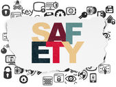 Safety concept: Safety on Torn Paper background — 图库照片